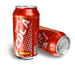 Cola drinks in metal cans