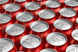 Macro of metal cans with refreshing drinks - 31037469