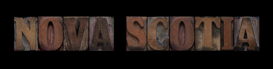 Nova Scotia in old wood type