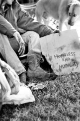 Homeless and hungry