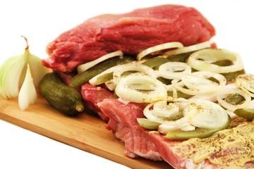 Nahaufnahme - Fleisch mit Füllung