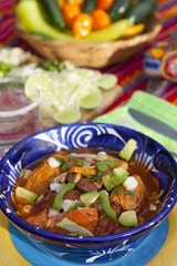 Pozole mexican traditionnal cuisine 3