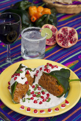 Chile ennogada traditionnal mexican dish 3