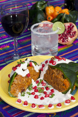 Chile ennogada traditionnal mexican dish 5
