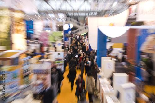 Leinwandbild Motiv people at commercial fair
