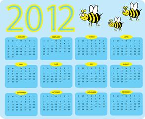 2012 Bee calender
