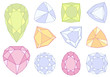 set of gem stones, vector