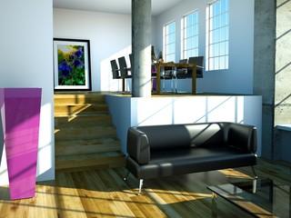 3d Rendering Loft