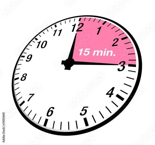 15 Minuten Uhr - 31050641