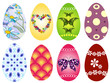Collection Easter`s eggs