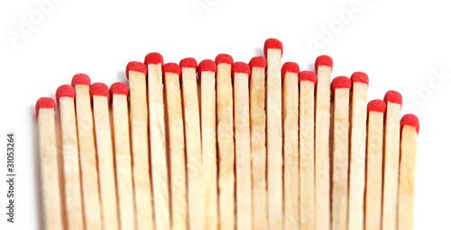 Matches  on white.