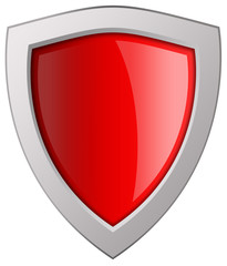 Blank red shield icon