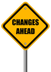 Vector changes ahead sign
