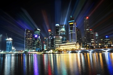 Singapore CBD in luminance