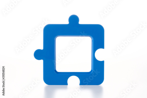 Jigsaw-Shape Photo Frame in Blue