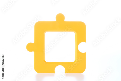 Jigsaw-Shape Photo Frame in Yellow
