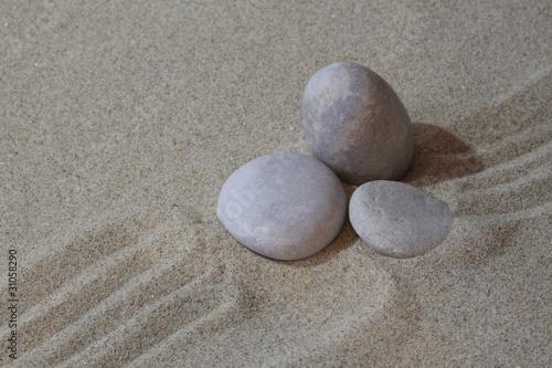Papiers peints Zen pierres a sable zen