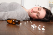 Suicide victim takes overdose lying on floor