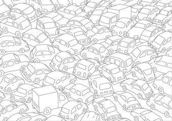ingorgo di auto