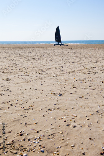 Sailing buggy at beach