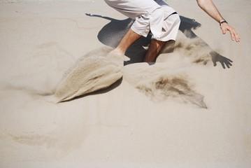 saltare sulla sabbia