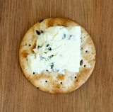 Cracker with Blue Cheese