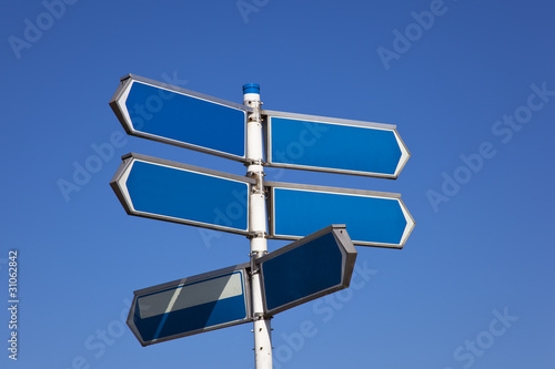 sign with blue sky