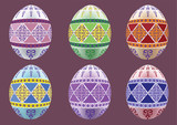 Six colored eggs