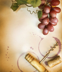 Vine design. Vintage style