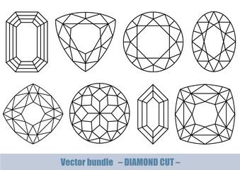 Diamantenschliff Vectorset