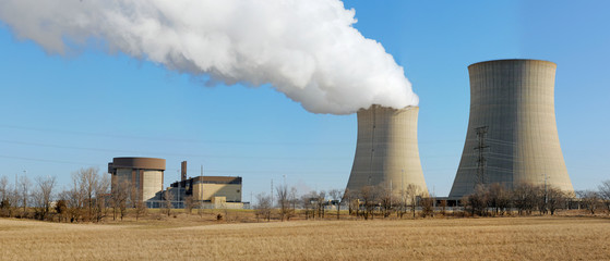 nuclear reactor containment buildings and cooling towers