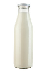 Bottle with milk isolated on white background