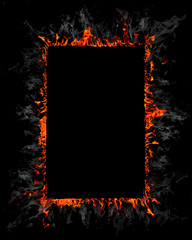 Burning frame background