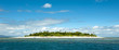 Leinwanddruck Bild - uninhabited remote island of Mala Mala part of Fiji Islands