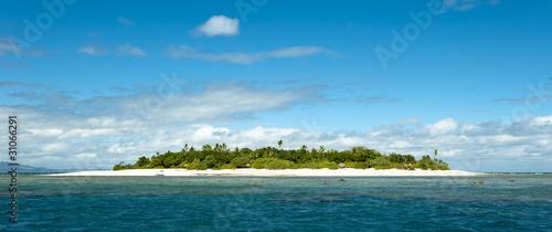 Leinwanddruck Bild uninhabited remote island of Mala Mala part of Fiji Islands
