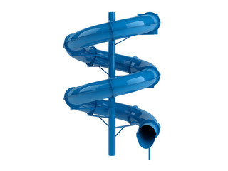 Blue waterslide