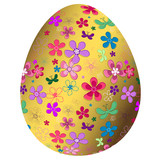 Big golden Easter`s egg