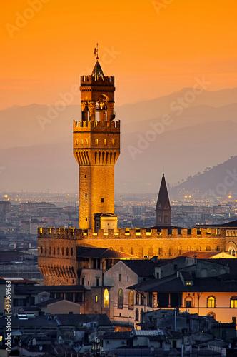 Florenz Palazzo Vecchio Abend 04 - 31069663