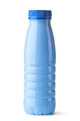 Blue plastic bottle for dairy foods