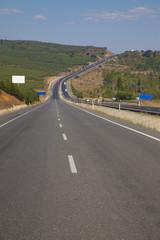 empty road in turkey