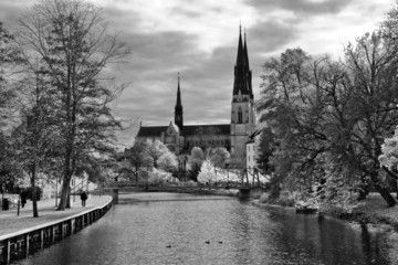 Uppsala Cathedral, Sweden (Black and White)