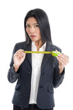 business woman with ruler