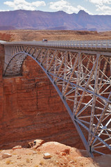 The modern bridge across the Colorado River