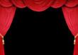 Theater Vorhänge auf schwarzem Hintergrund