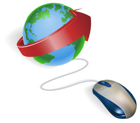 Mouse and arrow globe