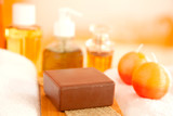 Handmade Soap closeup and toiletries poster