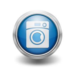 Icono borde metalico lavadora