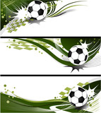 Three football banners