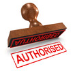 "3d Rubber Stamp - ""Authorised"""