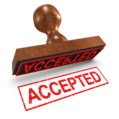 """3d Rubber Stamp - """"Accepted"""""""